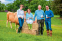 Graham's The Family Dairy launches its new range of glass milk bottles. Pictured are the Graham family - from left to right - Carol, Jean, Robert Snr and Robert Jnr.