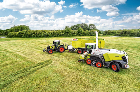 Claas machinery
