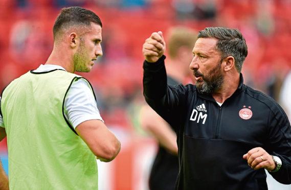 Aberdeen manager Derek McInnes talks to Dom Ball ahead of kick off