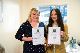 Press and Journal farming editor, Gemma Mackenzie (left) and Olivia Midgley.