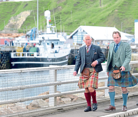 Prince Charles with David Whiteford of the North Highland Initiative.