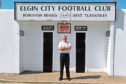 Elgin City's chairman, Graham Tatters,outside their  football stadium at Borough Briggs, Elgin.  Picture by Gordon Lennox 10/07/2013.