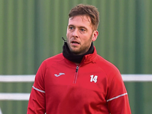Breedon Scottish Highland League. Formartine United (red) v Inverurie Loco Works (yellow) at North Lodge Park Stadium in Pitmedden. Picture of Formartine United manager Paul Lawson.  Picture by KENNY ELRICK     22/12/2018