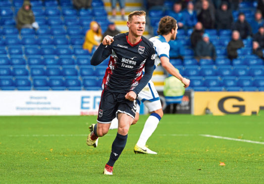 27/10/18 LADBROKES CHAMPIONSHIP ROSS COUNTY v MORTON (5-0) GLOBAL ENERGY STADIUM - DINGWALL Ross County's Billy McKay celebrates after scoring to make it 2-0.