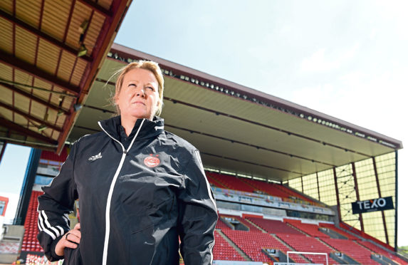 Emma Hunter, co-manager of Aberdeen FC women, and assistant coach for Scotland Under 16's.    Picture by Kami Thomson