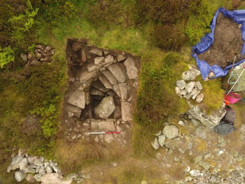The well was discovered at the top of Mither Tap, on Bennachie