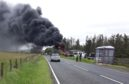 A bus caught fire earlier this afternoon at Thrumster