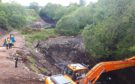 Police search begins after Leanach Quarry has been drained.