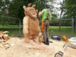 Hazlehead tree stump carving