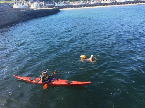 Cullen Sea School is being visited by world-class long distance swimmers