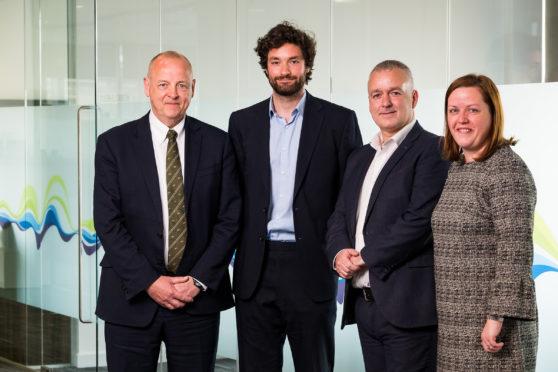 Colin Nicol from SSEN-Jamie Stewart and Derek Mitchell from Citizens Advice Scotland and Lyndsey Stainton from SSEN