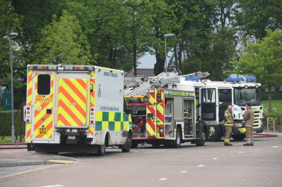 The fire service are at the scene.