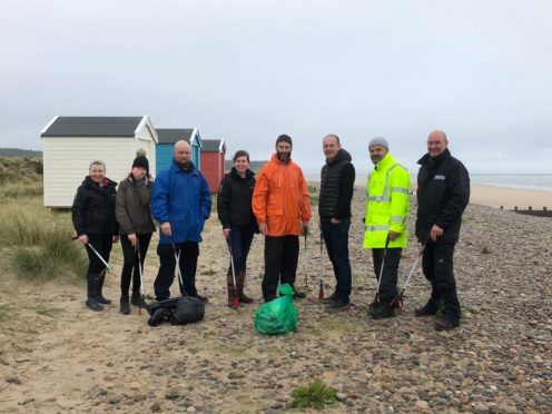 Chivas Brothers employees at Findhorn Beach