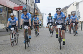 Riders will take on the 500 mile challenge before volunteering at the festival