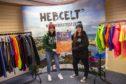 HebCelt shop staff Megan Macsween (left) and Eilidh Jenkins