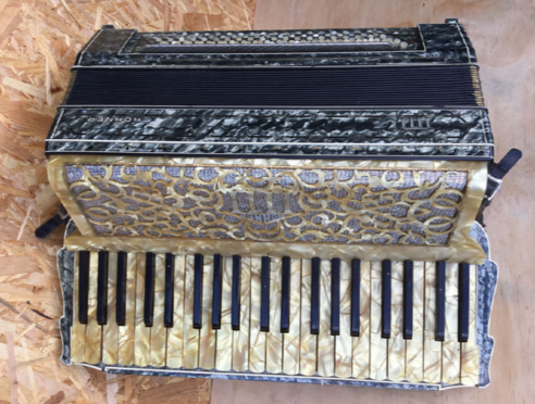 A Hohner accordion is one of many items up for auction at Moray Waste Busters this weekend.