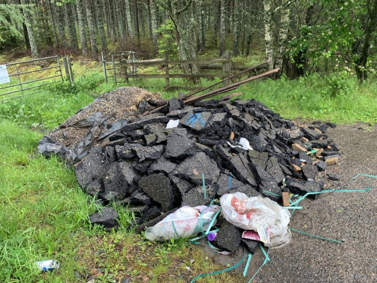 Inverness councillor outraged after tonnes of rubble dumped in A9 lay-by