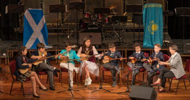 The Haileybury Astana Dombra Ensemble playing various Kazakh folk pieces.
