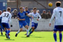 Jamie Redman in action against Peterhead last year.