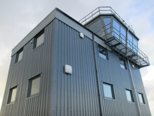 The newly revamped air traffic control tower at Kirkwall Airport