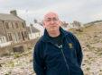 Councillor Marc Macrae of Moray Council in Stewart Street, Portgordon.