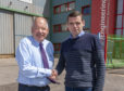 Douglas Ross with Alan James of A J Engineering