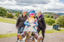 Oor Nevis takes up his perch as the pride of place at Inverness Castle