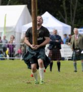 Aberdeen Highland Games at Hazlehead Park. Tossing the Caber. 16/06/19 Picture by KATH FLANNERY