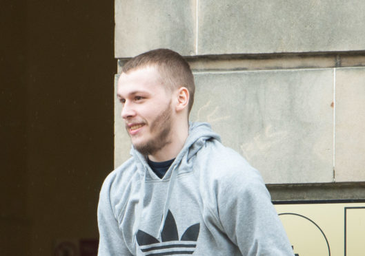 Barry Newlands is pictured outside of Elgin Sheriff Court in Moray.