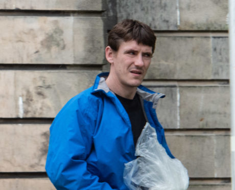 John Geddes is pictured leaving Elgin Sheriff Court