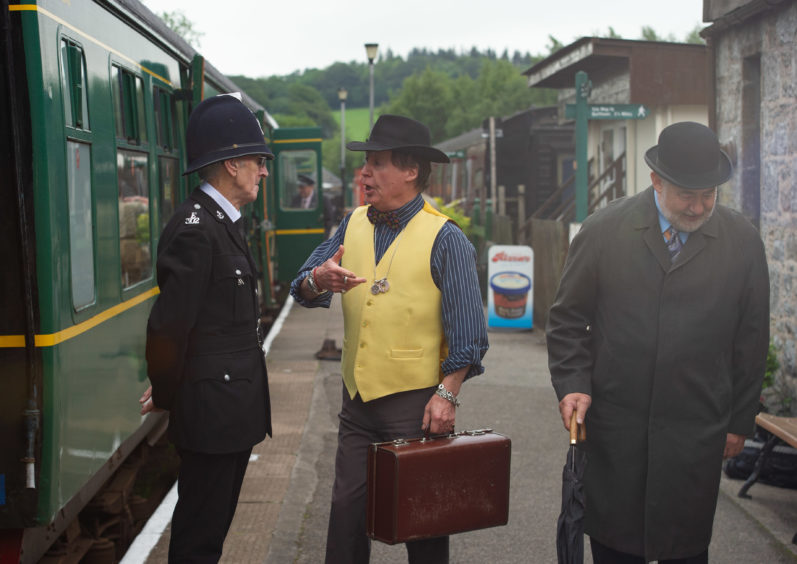 Characters at Dufftown station.