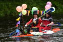 Hundreds of people came out to watch the Inverurie Raft Race.
