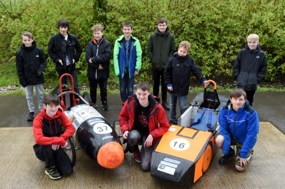 The Young Engineers Club at Grampian Transport Museum. Picture by Kenny Elrick.