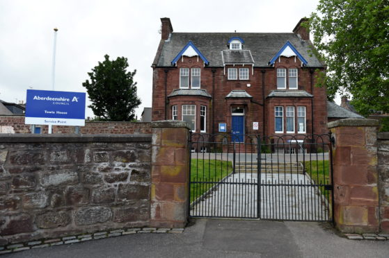 Aberdeenshire Council Local Housing Offices, Towie House, Manse Road Turriff.  Picture by KENNY ELRICK     25/06/2019