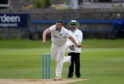 Chris Venske bowling for Aberdeenshire.