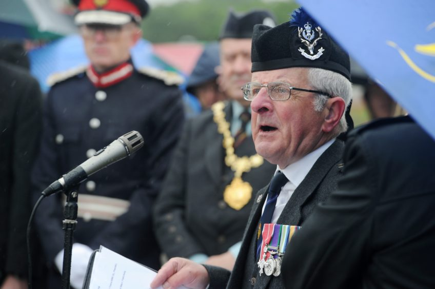 Bob Towns of the Nairn RBL at the ceremony
