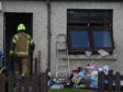 Firefighters at a property on Glenurquhart Road, Inverness.  Picture by Sandy McCook