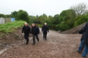 Police drain Leanach Quarry, near Culloden, in their search for Renee Macrae and her son Andrew.