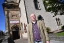 CLLR GLENN REYNOLDS AT BANFF PARISH CHURCH.
