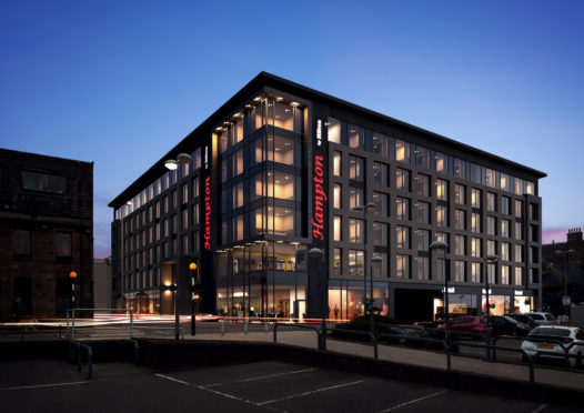 Computer generated image of the new hotel proposed for Rose Street Inverness