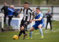 20/04/19 LADBROKES LEAGUE TWO ELGIN CITY v PETERHEAD BOROUGH BRIGGS - ELGIN Elgin City's Darryl McHardy and Simon Ferry in action.