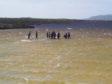 Swimming in Loch Bhasapol