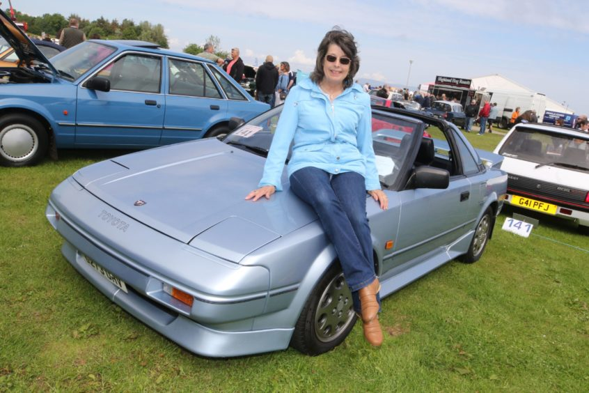 Peta Lyall from Westhill in Inverness with her 1989 Toyota MR2 Mk1.