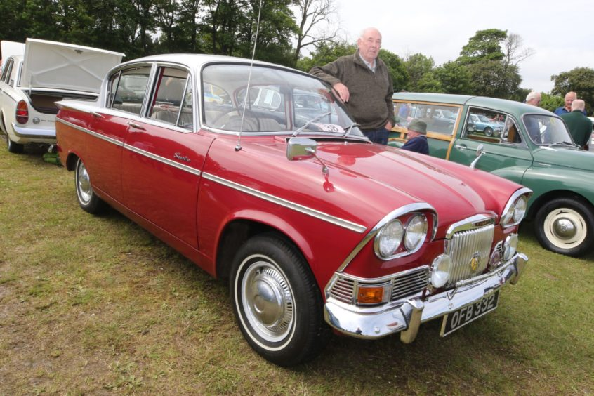 Robert Campbell from Culloden Moor in Inverness with his 1963 Humber Sceptre Mk1.