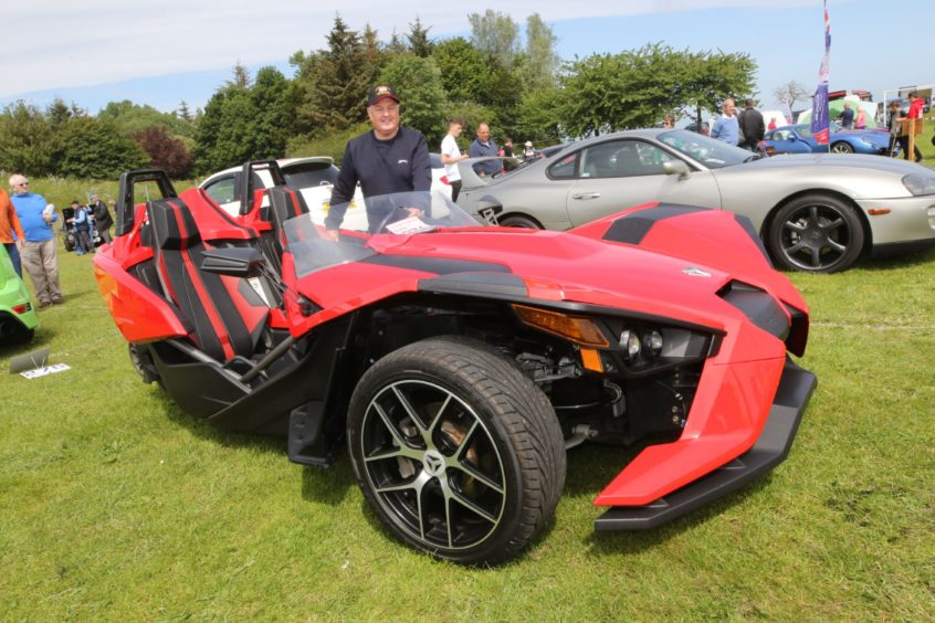 Eian Sutherland from Thurso with his Polaris Slingshot.