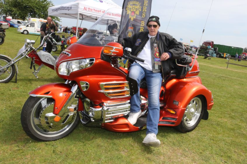 David Brown from Elgin with his Honda Goldwing GL 1800.