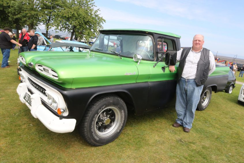 Scott Duncan from Dalneigh in Inverness with his 1961 Chevrolet Apache.