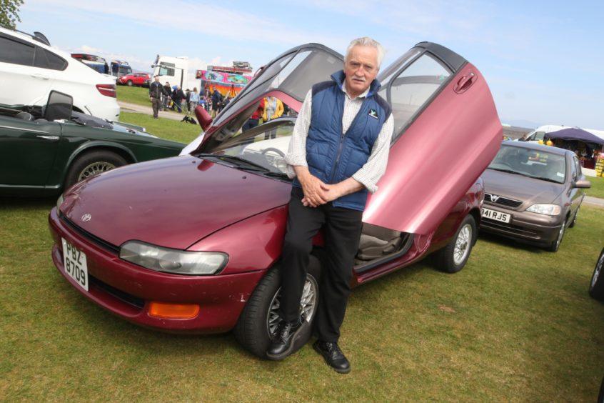 Thomas Wilson from Nairn with his 1990 Toyota Sera.