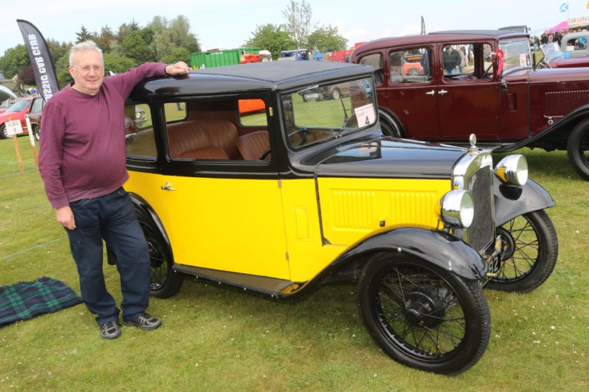 Ronnie MacKinnon from Skye with his 1932 Austin 7 RP Saloon.