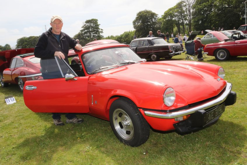 Brian Mackay from Invergordon with his 1973 Triumph GT6.